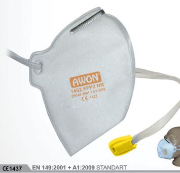 1402 FFP2 NR Ventilsiz Katlanır Solunum Koruyucu