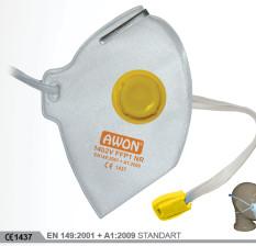 1402V FFP2 NR Ventilli Katlanır Solunum Koruyucu