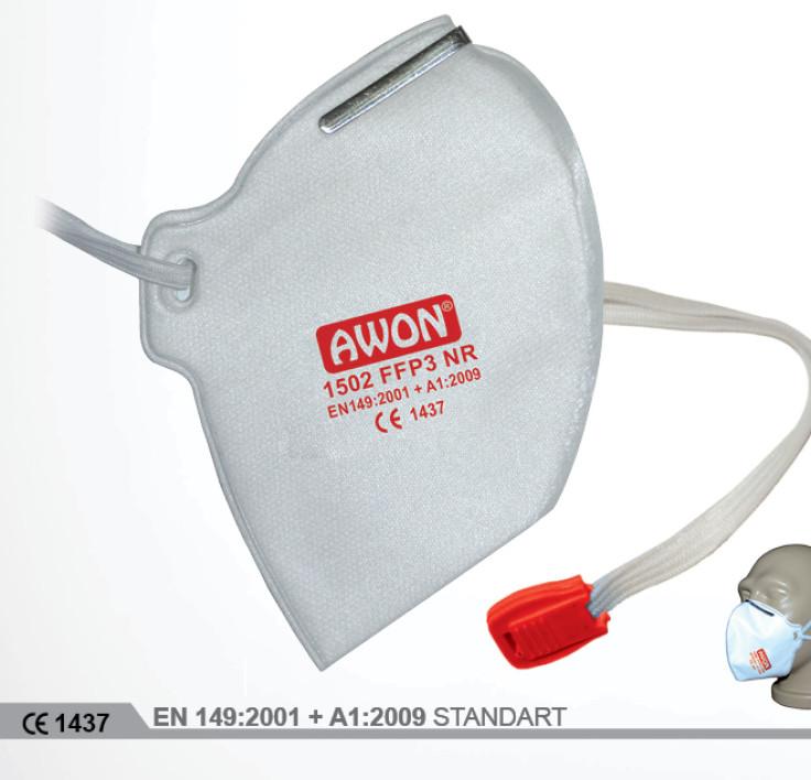 1502 FFP3 NR Ventilsiz Katlanır Solunum Koruyucu
