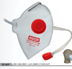 1502V FFP3 NR Ventilli Katlanır Solunum Koruyucu